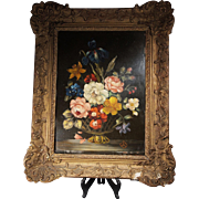 Antique Dutch Still Life Oil Painting on Copper