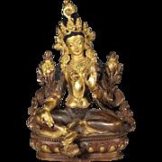 Vintage Bronze Tibetan Manjushri Bodhisattva Buddha