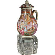 Superb Quality Chinese Export 18th century Rockefeller Pattern Creamer
