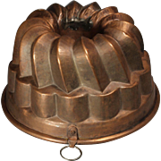 Victorian Copper Jelly Mold Tin Lined (Mould)