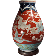 Japanese Imari Meiji Period Crane Vase - Red Tag Sale Item