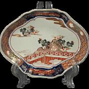 Fine Japanese Imari Meiji Period Shaped Dish