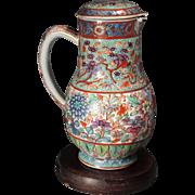 Chinese Kangxi Period (1662-1722) Clobbered Pitcher