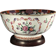 Chinese Export 18th century Famille Rose Punch Bowl