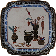 Chinese Export Canton Enamel Tray 18/19th century