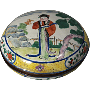 Fine Chinese Export Canton Enamel Covered Box 18th/19th Century