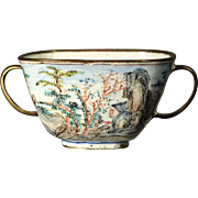 Chinese Export Canton Enamel Loving Cup 18/19th century