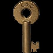 Chesapeake & Ohio Railroad Brass Switch Key