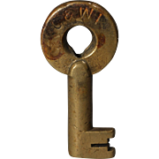 Chicago & Western Indiana Railroad Brass Switch Key