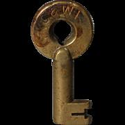 Chicago & Western Indiana Railroad Brass Switch Key