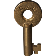 Chesapeake & Ohio Railroad Brass Switch Key