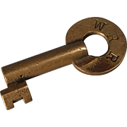 Wabash RR Railroad Brass Switch Key