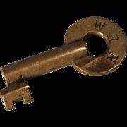Wabash RR Railroad Brass Switch Key