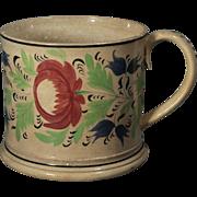 Beautiful Large English Gaudy Dutch or Welsh Large Mug circa 1820