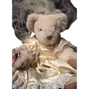 Vermont Teddy Bear Doll Bride NWT White Lovely 1992