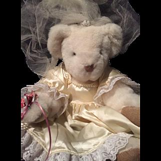 Vermont Teddy Bear Doll Bride NWT White Lovely 1992