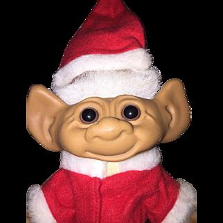 "Santa TROLL Doll 8"" UNEEDA Christmas"