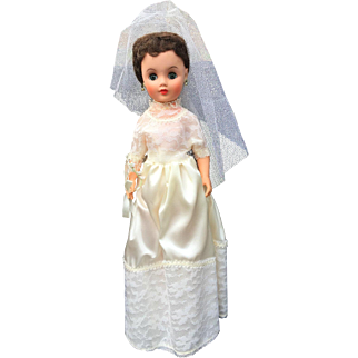 """Here Comes the Bride Big 21"""" Doll 1950's Mid Century Vintage"""