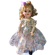 "Ideal Toni Doll 16"" P-91 Beautiful in Vintage Revlon Dress"