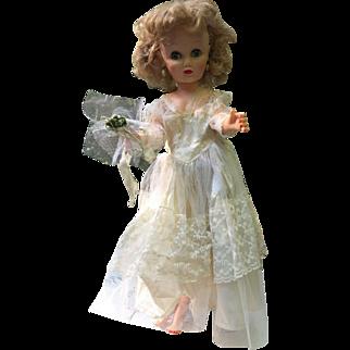 "Beautiful Bride Doll Vintage 14-R 19"" Revlon type"