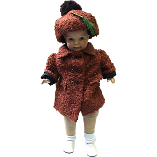 1927 Grace Corry Rockwell Madame Hendren Little Brother Compo and stuffed Adorable Handmade clothes
