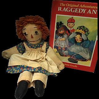 Vintage Handmade Raggedy Ann Doll and Book