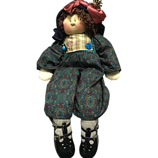 Adorable Art Doll Made of Cloth and Well Detailed