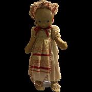 Vintage Antique little Bo Peep rag doll