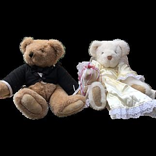 Vermont Teddy Bear Wedding Bears Bride and Groom