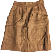 Vintage Brown Wool Yves Saint Laurent Skirt