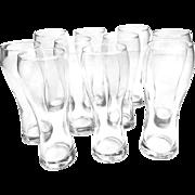 Vintage Midcentury Set of 10 Anchor Hocking Pilsner Beer Glasses