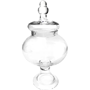 Vintage Glass Bell Shaped Apothecary Candy Jar