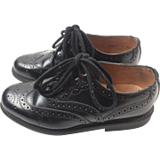 Authentic Black Leather Ghillie Shoes