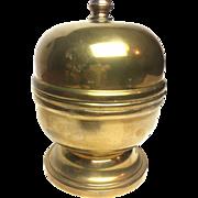 Vintage Midcentury Solid Brass Display Jar
