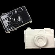 Vintage Set of Camera Shaped Salt And Pepper Shakers