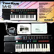 Vintage 80's Casio SA-10 Mini Keyboard