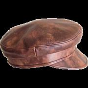 Vintage Authentic Leather Celine Hat