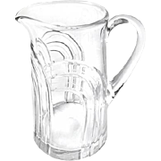 Vintage Midcentury Glass Tapered Pitcher