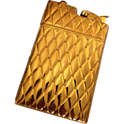 Midcentury Glam Gold Evan Huey Cigarette Lighter/Case