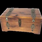 "Vintage McGraw Box Co., New York ""Mary Lu"" Wood Box"