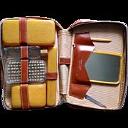 Vintage 1940s Men's Traveling Grooming Kit