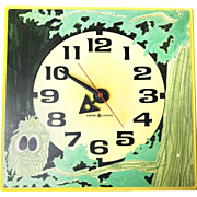 Vintage Mid Century General Electric Clock With Kitschy Owl Art