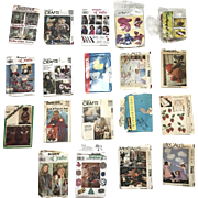 Assortment of 19 Vintage Crafting Patterns