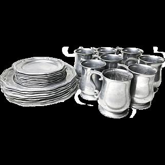 Vintage 24 Piece Set of Crown Castle Dinnerware (Serves 8)