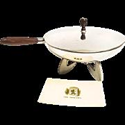 Vintage Midcentury Cast Aluminum Sauté Pan With Chafing Dish Base