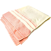 Large Rare Vintage 1930s-1940s Scottish Wool Skeldon Blanket