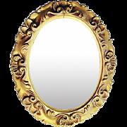 Vintage Midcentury Oval Hollywood Regency Mirror