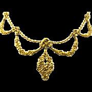 Art Nouveau Garland Necklace