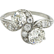 Art Deco Diamond Bypass Ring