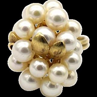 Vintage Pearl Cluster Grape Ring